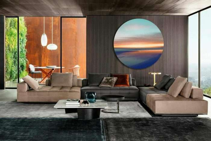 Modern paintings living room